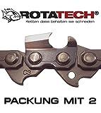 2er-Packung Echte Rotatech 38cm Kettensäge Säge Kette geeignet für HUSQVARNA 435 435E 440E