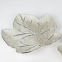 3,5cm L 15,5cm silber Keramik Hendriks 36cm B Dekoteller LEAF BLATT H