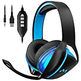 Mpow EG1 Gaming Headset, 7.1 Surround Sound Gaming Kopfh�rer, 60mm Leistungsstarke Treiber Kopfh�rer mit Mikrofon f�r PS4/Xbox One/PSP/Netendo DS/PC/Tablette medium image