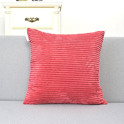 Natus Weaver Plush Velvet Corduroy Throw Euro Pillow Sham Cushion
