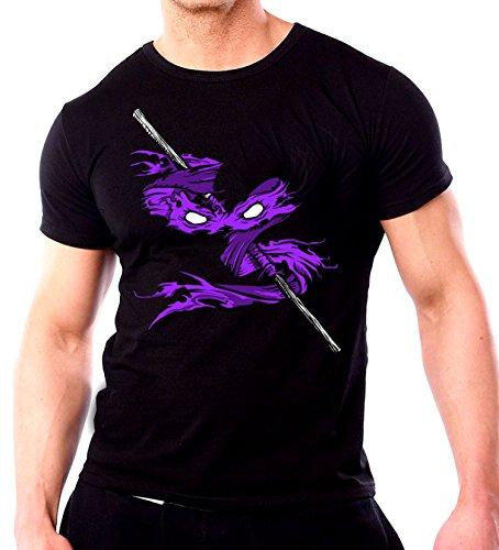 Image of DONATELLO Ninja Turtle T-shirt - Mens Black TMNT T-shirt New 2016 Movie Fan Top (XL, BLACK)