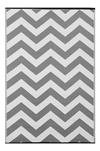 Green Decore 90 x 150 cm 'de Molly Williams' para interiores/Eco Reversible alfombra ligera con función atril y al aire libre, gris/blanco