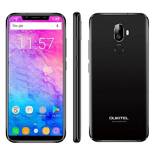OUKITEL U18desbloqueado Smartphone 4GB + 64GB cámaras trasera doble cara Identificación de Huellas Dactilares + 5,85inch Android 7.0mtk6750t Red apoyo 4G de hasta 1,5gHz Octa Core, Dual SIM