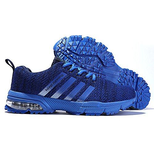 Muou Sneaker Mens Scarpe Da Corsa Traspirante Mens Sneakers Sport Outdoor Scarpe Moda Scarpe Blu