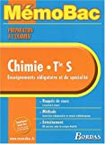 MEMO PREPA EXAM CHIMIE TERM S (Ancienne Edition)