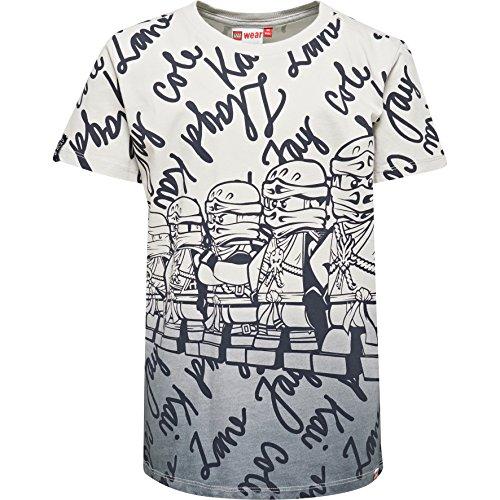 Lego Wear Jungen Lego Boy Ninjago Teo 602-T-Shirt, Grau (Dark Grey 984), 110 Preisvergleich