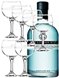 The London No. 1 Gin 0,7 Liter + 6 Stck. London Gin Ballon Gläser