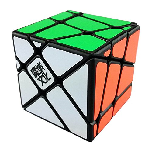 Image of Roxenda MoYu Crazy Fisher Smooth Magic Cube Speedcube Puzzles Black with Cube Stand and Bag