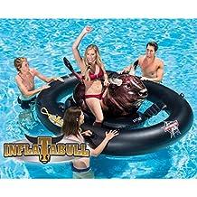 Festnight Flotador Piscina Centro de Juegos Hinchable Inflatabull 239 x 196 x 81 cm Negro y