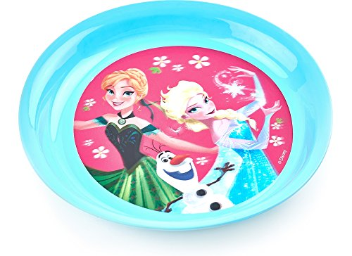 Frozen Teller für Kinder RNA101492(Rosa/Türkis)