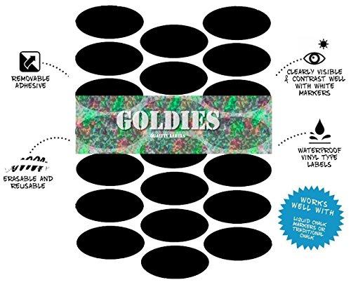 21Oval Form Dies ist ein Wiederbeschreibbarer Kreidetafel Tafel Etiketten Tupperware Kräuter- und Spice Jam Jar Tasse Wand Aufkleber (5cm * 2,5cm) (Jar-tafel-etiketten)