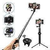 M.Way Selfie Stick Stativ mit Bluetooth Fernbedienung selbstauslöser 360° Rotation, verstellbare Selfie-Stange, Kamera Ständer, Monopod für iPhone, Android,Galaxy Huawei, HTC, Xiaomi, Galaxy, Samsung