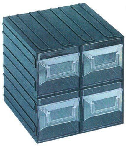 Top shop vision 17 cassettiera 4 cassetti trasparenti 208 x 222 x 208 mm utensileria manuale cassettiera porta utensili