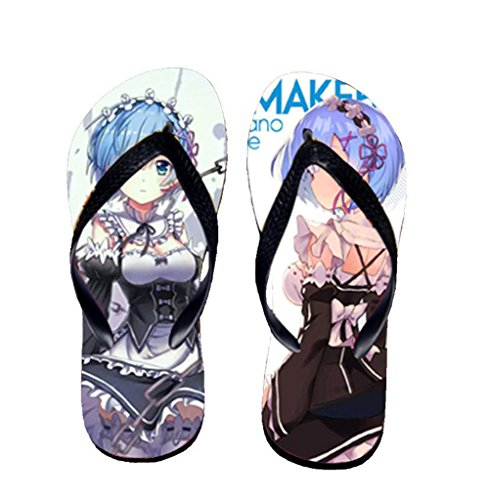 Bromeo Life in a different world from zero Anime Unisexe Flip Flops Tongs 799