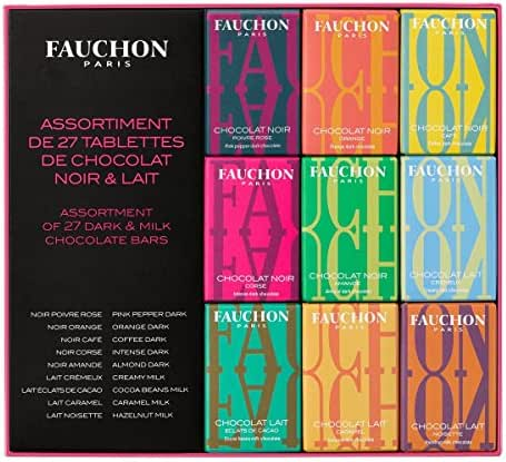 Fauchon - Assortiment de 27 mini-tablettes de chocolat