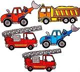i-Patch - Patches - 0168 - Feuerwehr - Polizei - Lastwagen - Traktor - Bagger - Trecker - Auto - Flicken - Aufnäher - Badges - Bügelbild - Aufbügler - Iron-on - DIY - Applikation - zum aufbügeln