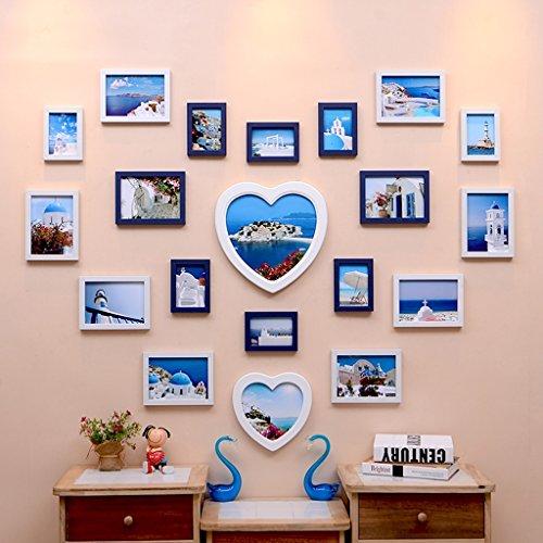 Home @ Wall Bilderrahmen Schlafzimmer der modernen Schlafzimmer der Liebesart, Hochzeitsfotorahmen-Wandkombination ( Farbe : C , größe : 138*103cm )