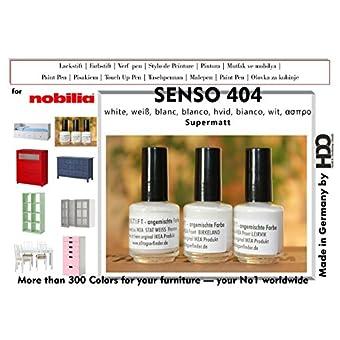 Farbstift barniz lápiz Touch Up Pen for nobilia Senso 404Blanco
