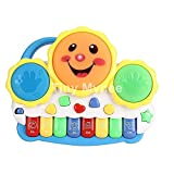 #4: Baby Music Toy, Tiny Mynee Learning and Development Fun Toddler Toys Musical keyboard Drums Set for Babies Early Educational Game (Multi-color)