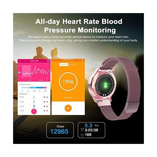 Naack Reloj Inteligente Pulsera Monitor de frecuencia cardíaca smartwatch Monitor De Ritmo Cardíaco Mujeres Hombres… 15