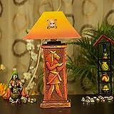 Kalaplanet Handpainted Terracotta Lamp -...
