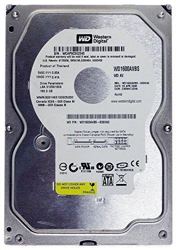 160GB HDD WD WD1600AVBS WD AV 8MB Cache DVR SATA2 ID16485 (160gb Dvr Festplatte)