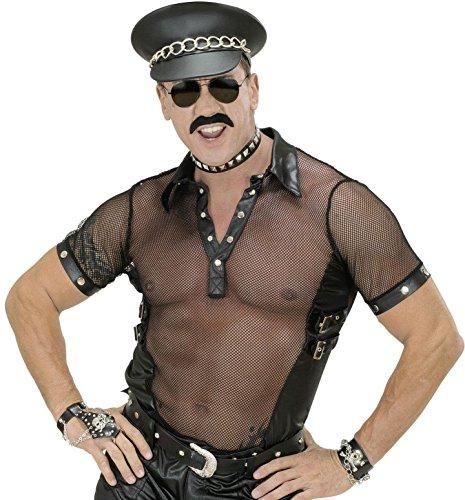 Jackson Alle Kostüme Michael (Widmann 88822–Rock Shirt, aus Kunstleder, in Größe)