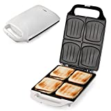 bestiver Familien-Sandwich-Toaster XXL | 4er Sandwichmaker | Muschelform