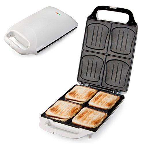 bestiver Familien-Sandwich-Toaster XXL   4er Sandwichmaker   Muschelform
