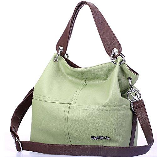Weidipolo Super-PU-Leder Handtasche / Umhängetasche getragen / Schultertasche Bag Modische Frauen-Hell Grün (Leder Handtaschen Chanel)