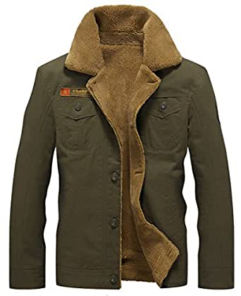 Jiinn Winter Mens Thicker Warm Military Jacket Parka Plus
