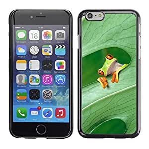 Omega Covers - Snap on Hard Back Case Cover Shell FOR Iphone 6/6S (4.7 INCH) - Expression Frog Think Forest