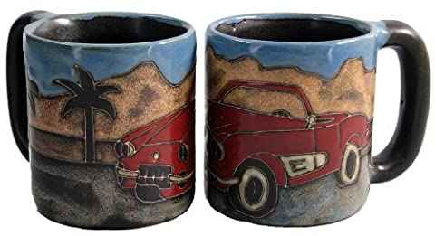 One (1) MARA STONEWARE COLLECTION - 16 Ounce Coffee or Tea Cup Collectible Dinner Mug - Sports Car