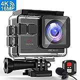 Victure Action Cam 4K 16MP Kamera 40M wasserdichte Unterwasserkamera Digitale...