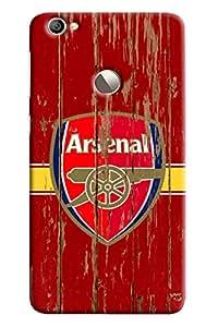 Blue Throat Arsenal Logo Printed Designer Back Cover For LeTv Le 1s