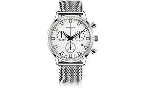Blenheim London® Chronomaster Pilot Watch (Silver)
