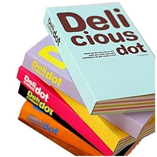 kitmax (TM) Candy Farbe Delicious Dot Print tragbar Record Book schreiben Journal Personalisierte Travel Diary Notebook Geschenk für Studenten Kinder, Stil kann variieren (Auf Dem Candy Dot Papier)