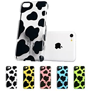 iPhone 5C Case, ESR Animal Kingdom Series iPhone 5c Case Hard Clear Case Back Cover with Cute Patterns Snap on Case (Cow)