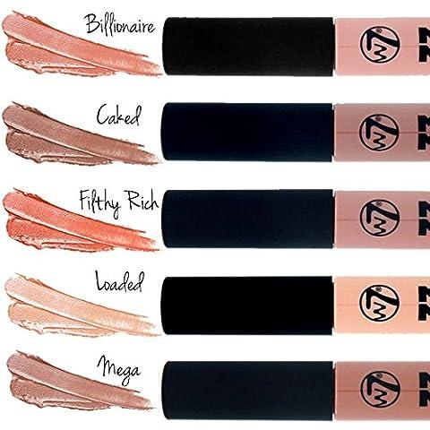 W7 Cosmetics - Mega Matte Nude Lips Red Liquide Rouge à lèvres Shades 5 Couleurs