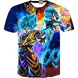 Beiläufiges Kurzarm T-Shirt Dragon Ball Z T-Shirt Herren 3D T-Shirt Super Saiyajin Goku Brolly Gedruckt Top T-Shirt Camiseta Hombre (Farbe : #13, größe : L)
