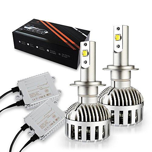 Preisvergleich Produktbild LED Autoscheinwerfer Umrüstkit, AFTERPARTZ® XH-6 LED Scheinwerfer Brenner - 72W 12000LM 6000K Xenon-Weiß CREE Neueste XHP-50 LED Chips - 2 Jahre Garantie, H7