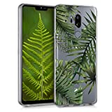 kwmobile LG G7 ThinQ/Fit/One Hülle - Handyhülle für LG G7 ThinQ/Fit/One - Handy Case in Grün Transparent