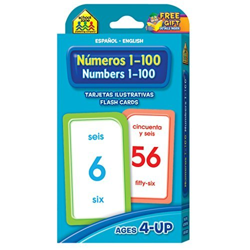 Numbers 1-100 Flash Cards - Bilingual (Spanish Edition) by School Zone Publishing Company Staff (2004-09-01)
