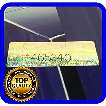 125 St. Hologramm Etiketten mit Seriennummern, Garantie Siegel Aufkleber 30x10mm