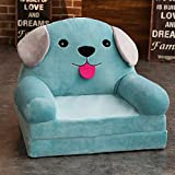 WAYERTY Cartoon Kid's Sofa,Children's Armchair, Children Sofa Girl and boy Birthday Gift Toy Lazy Upholstered Cute Baby Small Sofa Seat Kid Chair Washable-blue A 50x40x45cm(20x16x18inch)