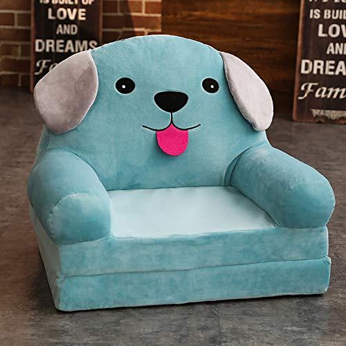 WAYERTY Kindersessel, Kindersofa Cartoon Mädchen und Jungen Geburtstagsgeschenk Spielzeug Faul Polstermöbel Cute Baby Kleines Sofa Sitz Mini-Sessel Waschbar-blau A 50x40x45cm(20x16x18inch)