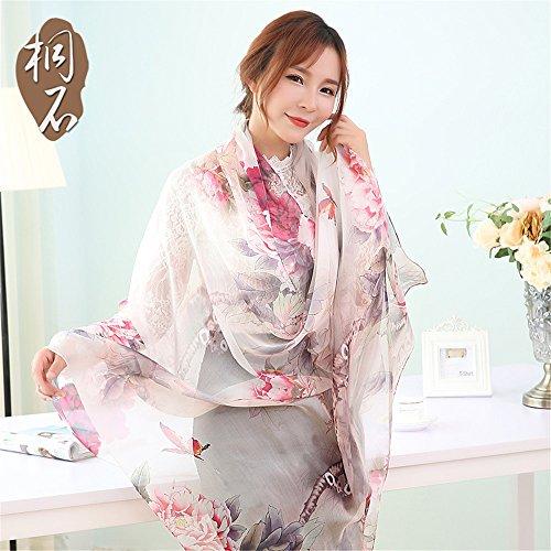 Mousseline de soie foulard en soie Foulard Foulard fashion boutique foulards en soie d'impression tout-match 180cm*110cm sd490 - 418, Sd490 - 362