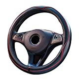 Car Leather Steering Wheel Covers Universal 15 inch Breathable Anti-slip Wheel Sleeve Protector