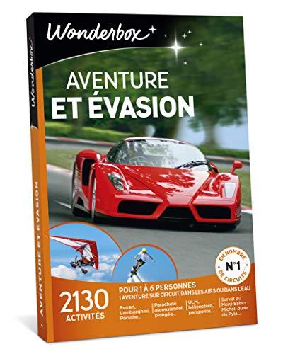 Wonderbox - Coffret cadeau homme pour noël - AVENTURE ET EVASION - 2130 activités...