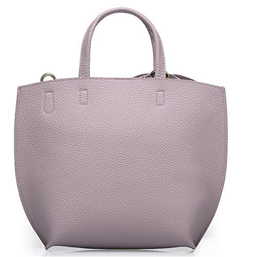 Xinmaoyuan Borse donna Borse in pelle colore puro vacchetta madre borsa tracolla di prua portatile borsa Messenger Viola
